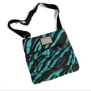 Betseyville green black animal print crossbody bag